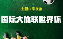 国际大体联世界杯口号征集活动参选表